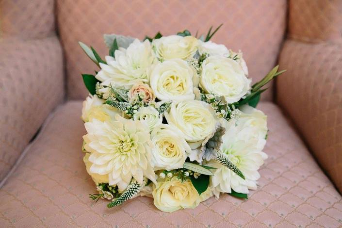 [Image: Classic white bouquets are a very elegant choice for any bride! ]